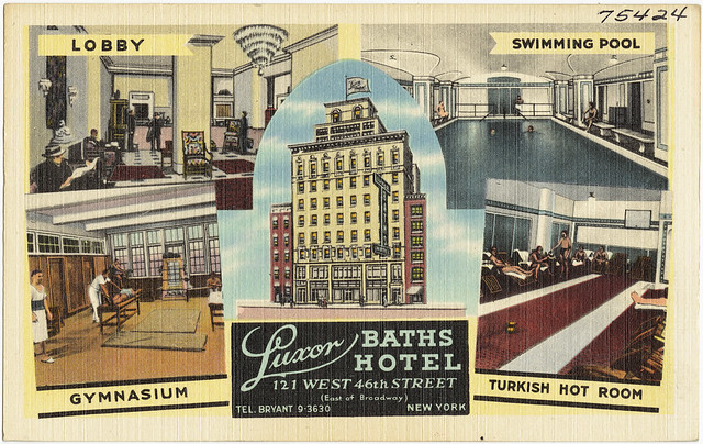 Luxor baths hotel 121 west 46th street east of broadway for Luxor baths