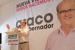 Graco Ramirez desayunando con rectores y jóvenes de CUAM