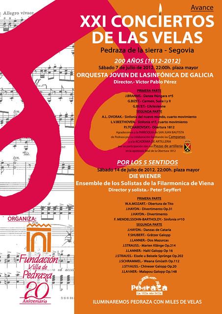 AVANCE CONTRA XXI CONCIERTOS DE LAS VELAS 2012