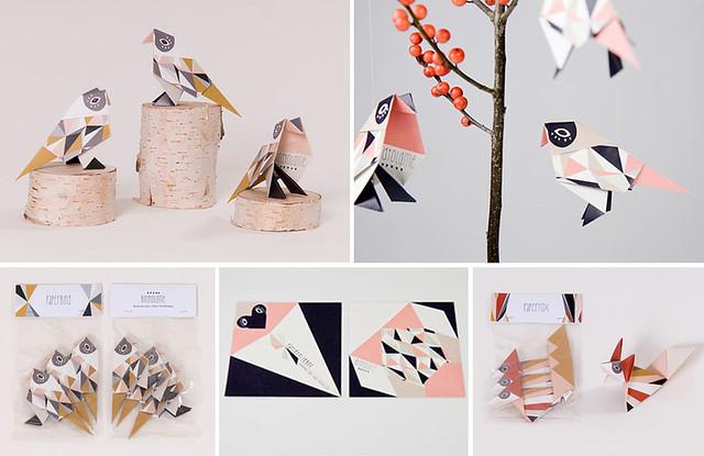 britta manger- origami birds & fox