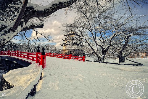 Hirosaki Castle In Winter.  © Glenn Waters
