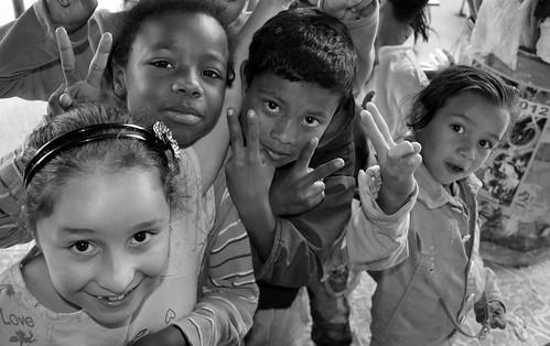 Kids in Regalos de Dios, Medellin