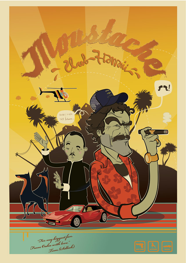 Moustache club Hawai