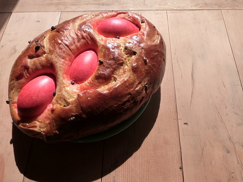 Challah With Red Goose Eggs