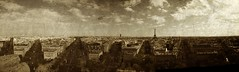 Panorama of Paris from the top of the Arc de Triomphe