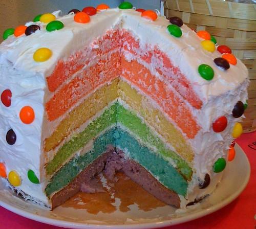 Rainbow Cake Nat
