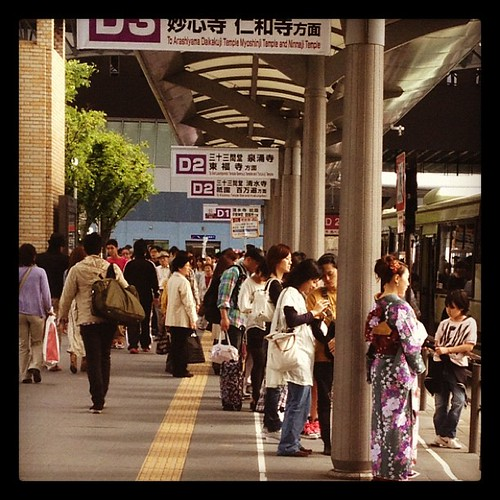 Waiting for the bus #kyoto #japon #japan