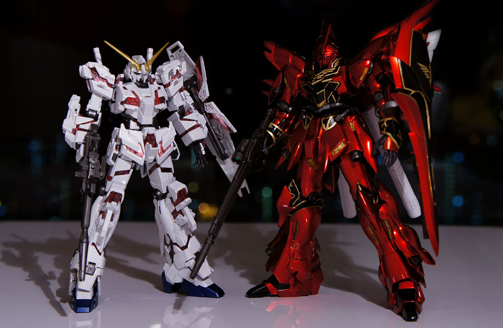 HG Unicorn & Sinanju Titanium Finished