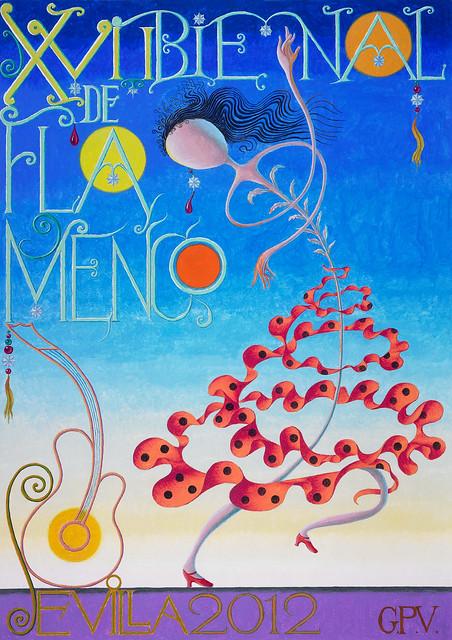 Cartel de la Bienal de Flamenco 2012