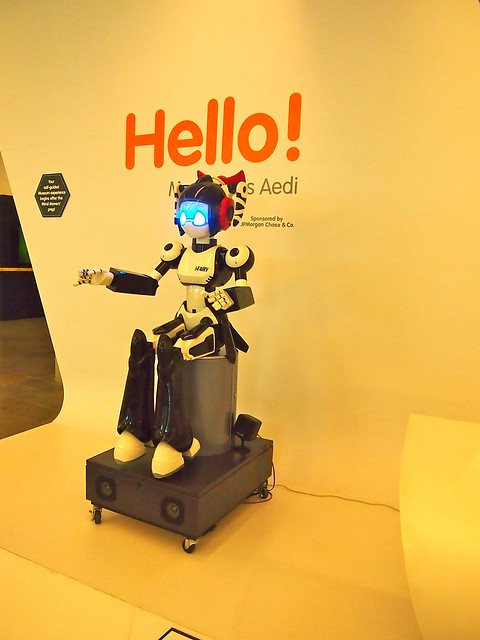 robot greets you when you enter