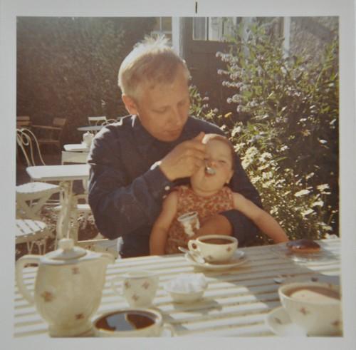 Pappa och jag Lundeborgs konditori 1970