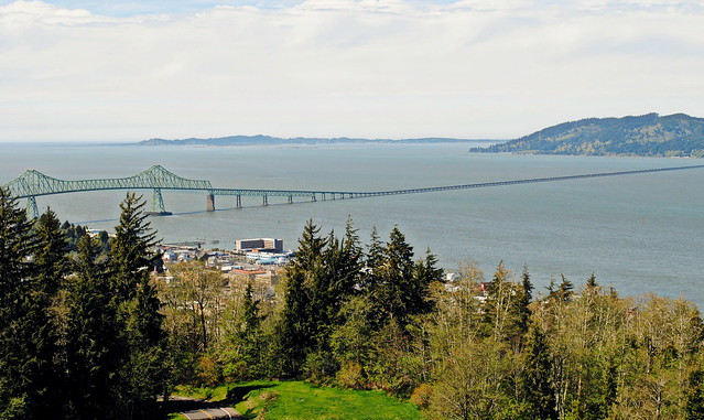 The Astoria Bridge from the Column - Astoria, Oregon