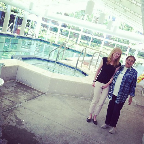 Poolside with Mom!