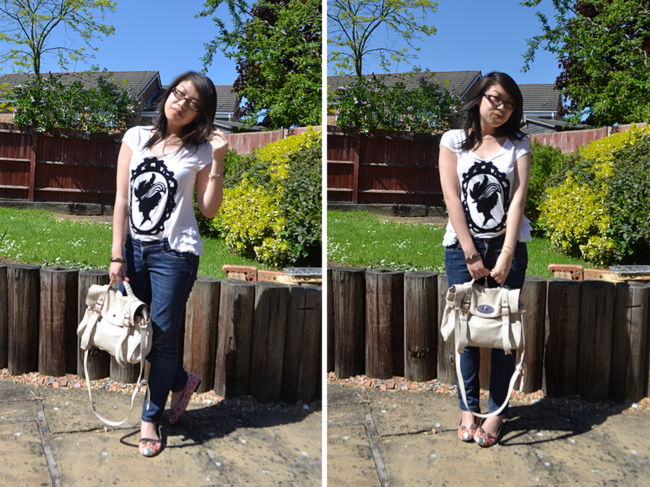 daisybutter - UK Style and Fashion Blog: what i wore, wiwt, ootd, river island, miss selfridge, mulberry alexa, le bunny bleu