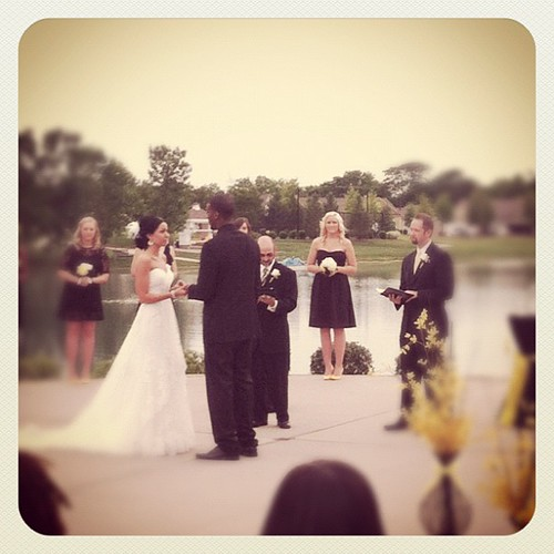 Exchanging of the rings. You are stunning @kelseyraes