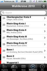 Wahl App NRW: Wahlkreise 2010