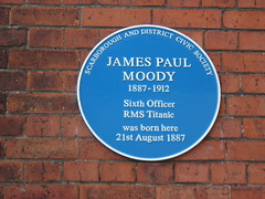 Photo of James Paul Moody blue plaque