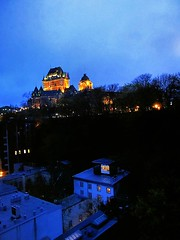Chateau Frontenac in the blue hour