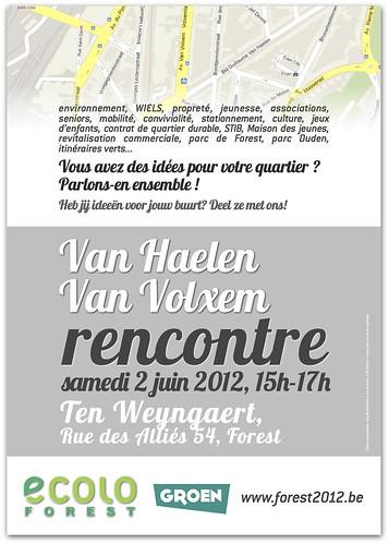 Rencontre de quartier Van Haelen & Van Volxem : 02/06, 15h