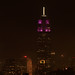 A brief break in the fog: Empire State Building in Purple & White For NYU