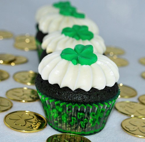 st. patty cupcake
