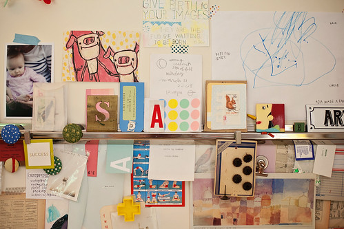 a snippet of my inspiration wall that reminds me of ada