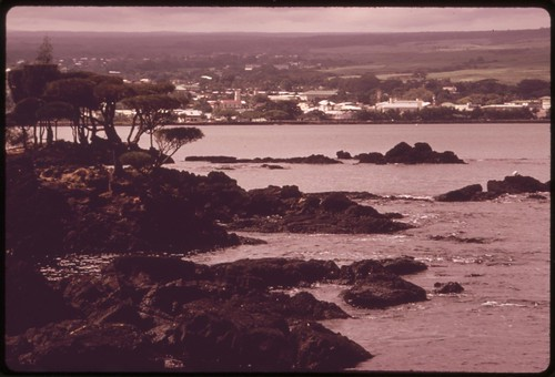 Shoreline scene in the Hilo area, November 1973