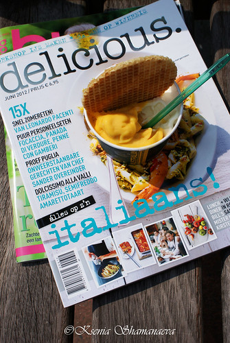 magazine and ice-cream