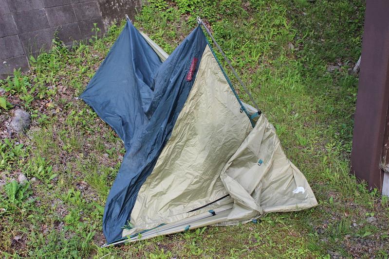 3日目 テント飛ばされたの図