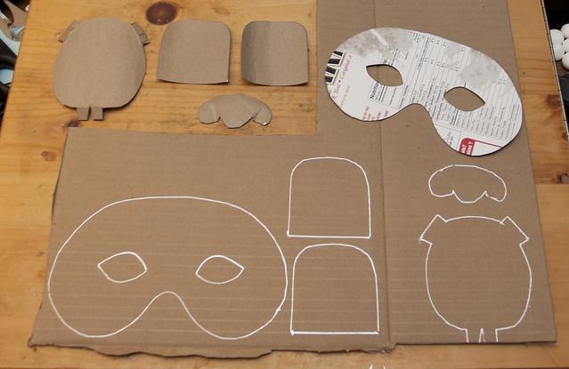TransferringYour Mask Templates Onto Cardboard