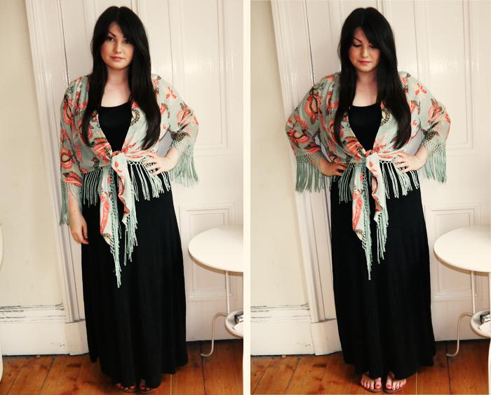 glamorous floral kimono 2