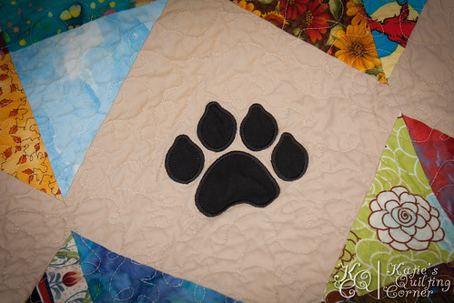 Snowball Machine Applique Quilt Dog Theme