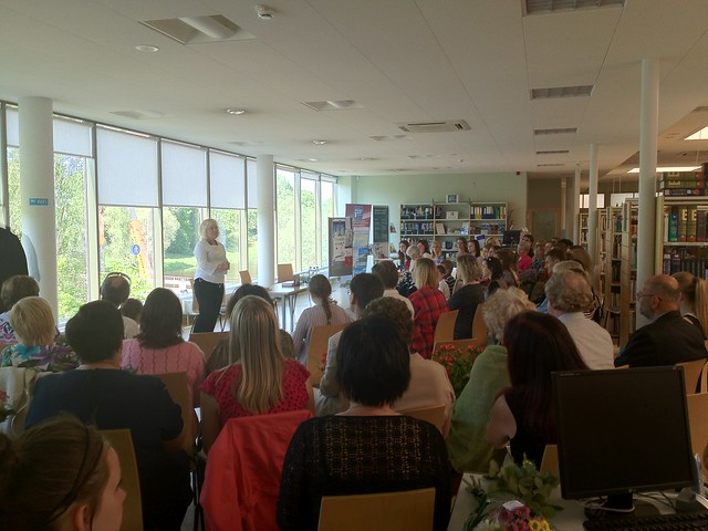 Poetry book publication event in the interesting Valmiera Integrated Library