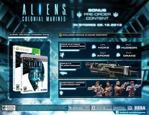 Aliens: Colonial Marines Gamestop Pre-order Content