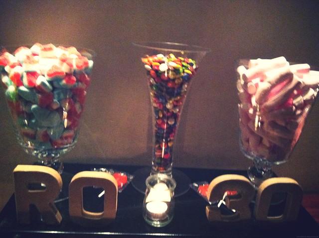 fiesta 30 dulces