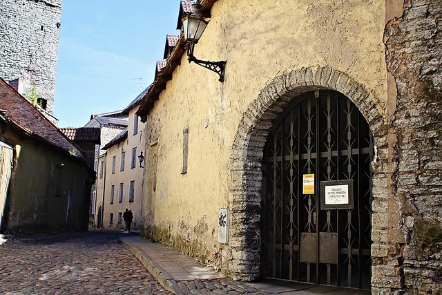 street scene arched door