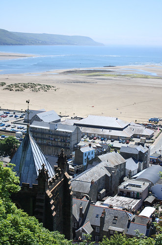 Bird's eye view of Barmouth by Helen in Wales