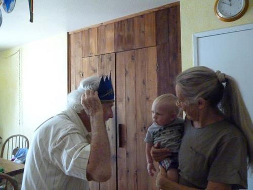 grandpa bob and birthday ollie