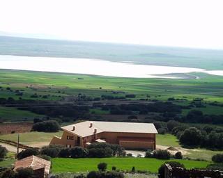 Vista aérea de Gallocanta. Foto Hotel Secaiza.