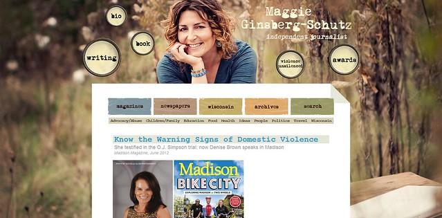MaggieSchutz.com landing page