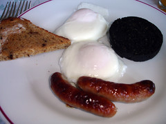 Black pudding and sausage