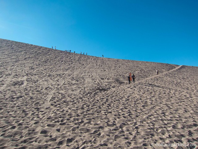 The badass dune we had to climb