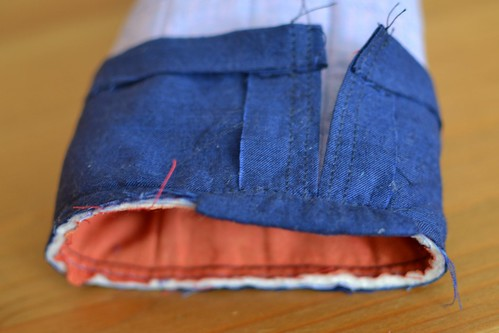 padded bag - covered seam allowance