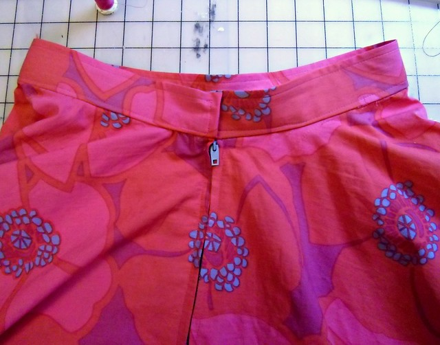 Floral Circle Skirt - Waistband