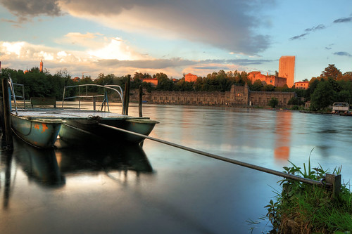 TRAMONTO ADDA (the old hydro power plant and castle in reparation ) by Davide Comotti