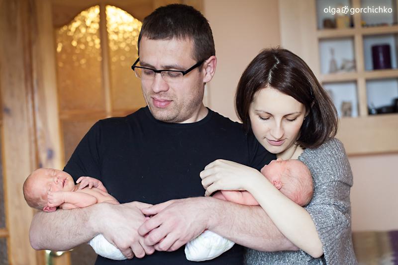 Захар и Софья, королевская парочка. Новорожденные двойняшки