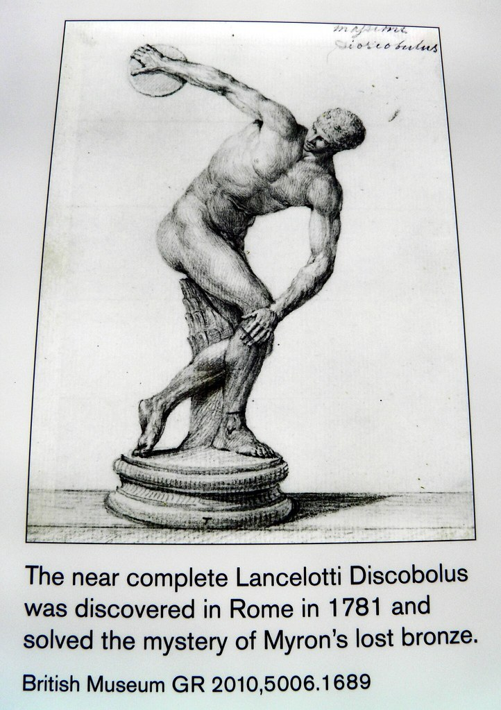 The near complete Lancelotti Discobolus, Winning at the ancient Games, British Museum