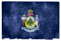 Maine Grunge Flag
