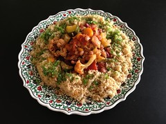 Saffron Couscous with La Dolce Vegan!'s Veggie Goulash