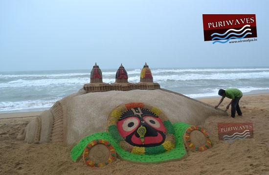 Sand chariots & Jagannath at Sankha kshetra Puri